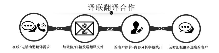 译联翻译公司合作流程图
